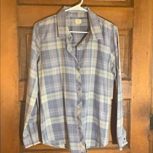 Blue plaid collared button up!